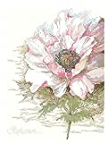 RJJX COLECCIÓN DE Oro CUENTADO Cross Stitch Kit Anemone Silver Silver Lotus Flor Flowers LAN LAN (Cross Stitch Fabric CT Number : 18CT Counted Canvas)