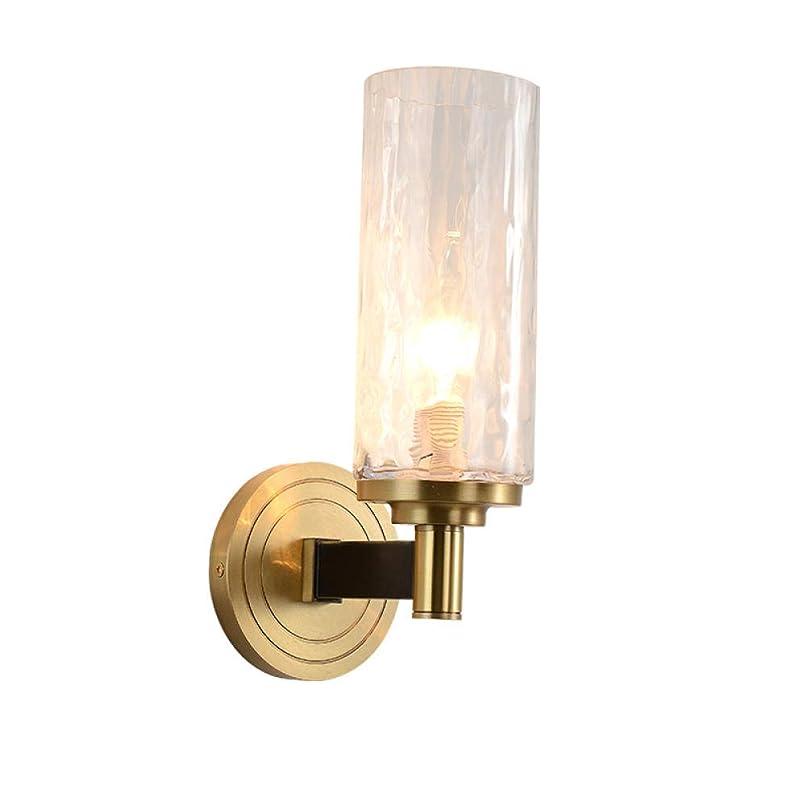 信念ラテン恐怖完全な銅クリスタルガラスポスト現代光高級寝室ベッドサイドリビングルームアメリカの通路廊下テレビ背景壁ランプ