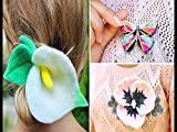 Do It Yourself Felt Flowers Accessories And Polymer Clay Butterfly Brooch