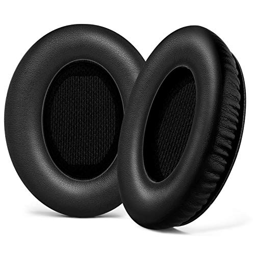 Replacement Ear Pads Bose Quiet Comfort 15 Ear Cushion Kit Memory Foam Protein Leather Durable for Bose QC15 QC2 QC25 QC35/ Ae2 Ae2i Ae2w (Black)