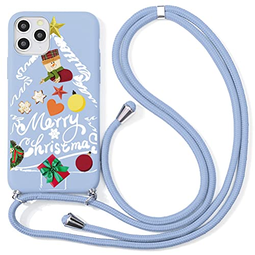 Yoedge Funda Compatible con iPhone 6 Fundas Carcasa Colgante con Cuerda TPU Silicona Bumper Dibujos Case Antigolpes Correa Ajustable Protector Camara Capa para iPhone 6 4,7 Pulgada, Navidad