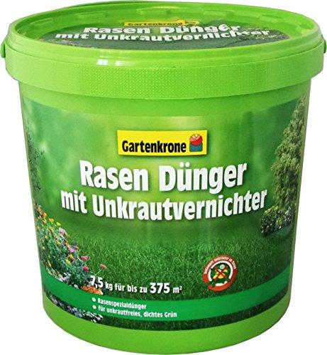 Gartenkrone 7,5 Kg Rasendünger mit Unkrautvernichter