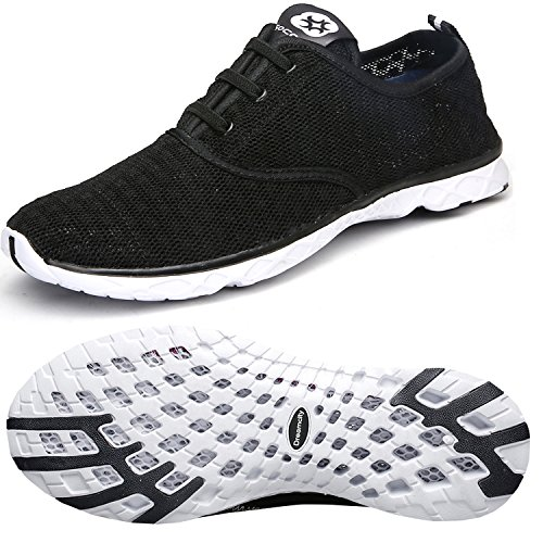 Dreamcity Men's Water Shoes Athletic Sport Lightweight Walking Shoes Black/White