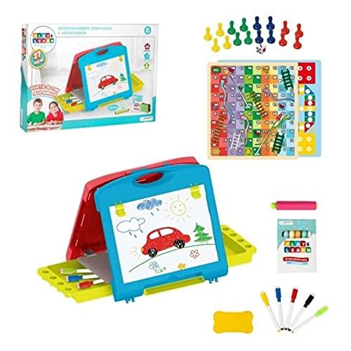 Play & Learn - Lousa Mágica 2 Em 1 Maleta Multikids - BR1215, Colorido