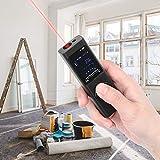 Emoshayoga Práctico Mini medidor de Distancia USB de Mano de Alta precisión Mini a Prueba de Polvo 40 m / 131,2 pies para decoración de Interiores