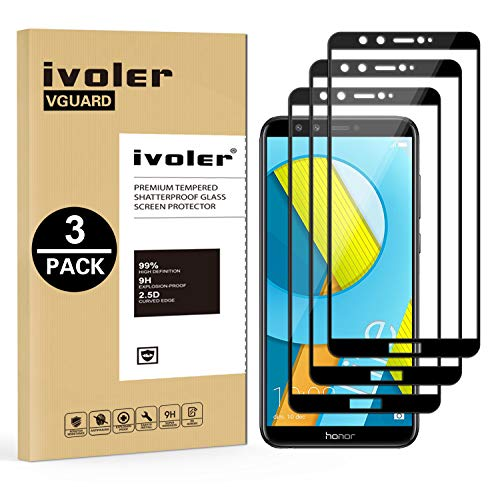 ivoler [3 Stücke] Panzerglas Schutzfolie für Huawei Honor 9 Lite, [Volle Bedeckung] Panzerglasfolie Folie Hartglas Gehärtetem Glas BildschirmPanzerglas