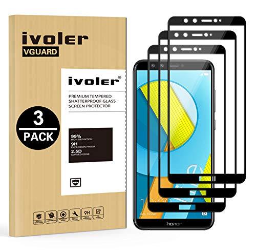 iVoler [3 Pack] Pellicola Vetro Temperato per Huawei Honor 9 Lite, [Copertura Completa] Pellicola Protettiva Protezione per Schermo per Huawei Honor 9