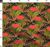 Palme, Blätter, Botanisch, Grün, Tropisch, Insel Stoffe -