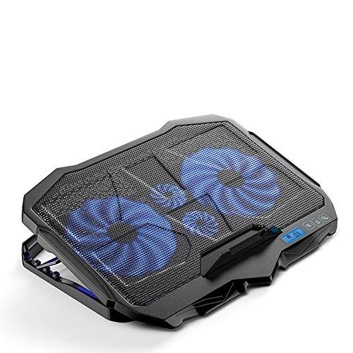 Xbd Refrigerador portátil,Ventilador para portatil,Base de Refrigeración para Ordenador Portátil,Velocidad del Viento Ajustable de 6 velocidades,2 Puertos USB,Apto para laptops de 12'-18'