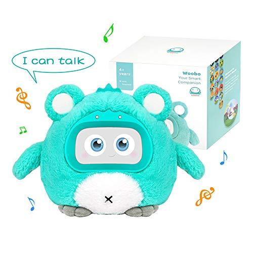 WOOBO Plush Interactive Robot Toy for Curious Kids - Stuffed Talking Toys with Songs, Stories, Games, Voice Interaction, Alarm Clock, App and Touch Control, Best Gift for Boys Girls, Ages 3 & Up …