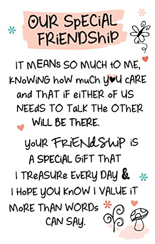 INSPIRED WORDS KEEPSAKES - OUR SPECIAL FRIENDSHIP