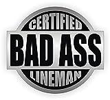 Bad Ass Lineman Hard Hat Sticker / Helmet Decal Label Lunch Tool Box