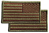 US Air Force Reverse OCP and Spice Brown Flag with Hook Fastener (Pair)