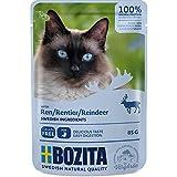 Bozita Pouch Häppchen in Soße mit Rentier | 12 x 85g Katzenfutter nass