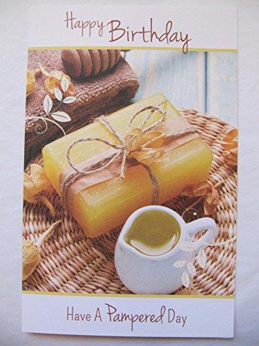 Wonderful Colourful sapone & oil Picture Happy Birthday biglietto d' auguri