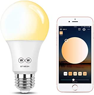 MagicConnect Smart Light Bulb, Tunable White, No Hub Required, HaoDeng App Control Bluetooth Mesh Tech Smart Home Lighting Solution (Hub Required for Alexa Google Voice Control, Hub Sold Separately)
