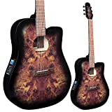 Lindo Venus Slim Body Electro Acoustic Guitar F-4T Preamp LCD Tuner