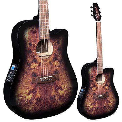 Lindo Guitars Venus - Guitarra acústica, color verde y negro