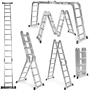 Escalera De Aluminio Plegable 575cm, Multifuncional 6 En 1,