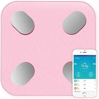 Báscula de Peso Digital Báscula de baño Bluetooth Báscula de Peso electrónica Báscula Digital de Grasa Inteligente Índice Corporal Durable (Color: Blanco)