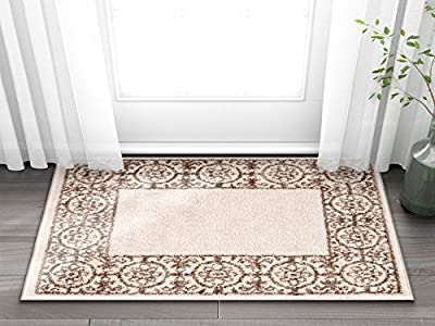 "Metro Shapes Red & Beige Modern Geometric Boxes & Lines Pattern 3'3"" x 5 Area Rug Soft Shed Free Easy to Clean Stain & Fade Resistant"