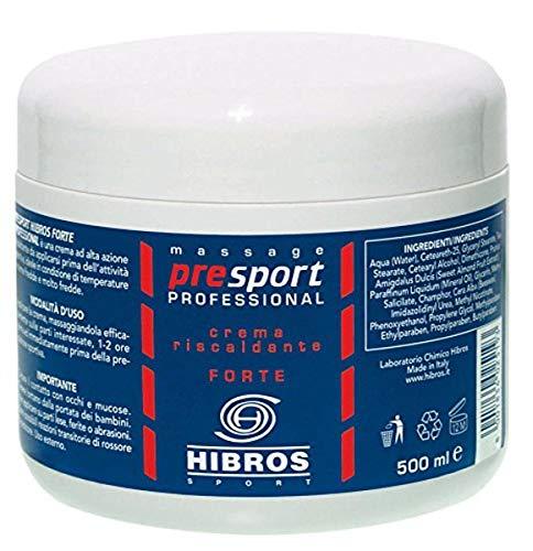 HIBROS Sport PreSport - Crema de calentamiento profesional, 500 ml