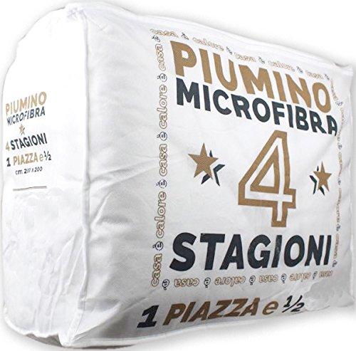Tata Home Piumino Doppio 4 Stagioni in Morbida Microfibra Misura 200 x 200 cm Letto da Una Piazza e Mezza