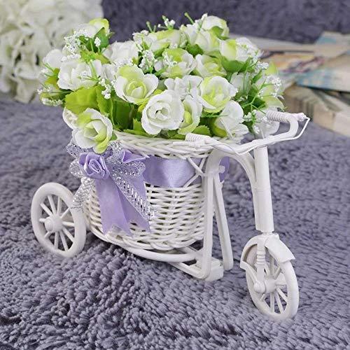 Aomerrt 2 STKS rotan driewieler fiets bloem mand vaas opslag tuin bruiloft partij decoratie kantoor slaapkamer houden snoep gift