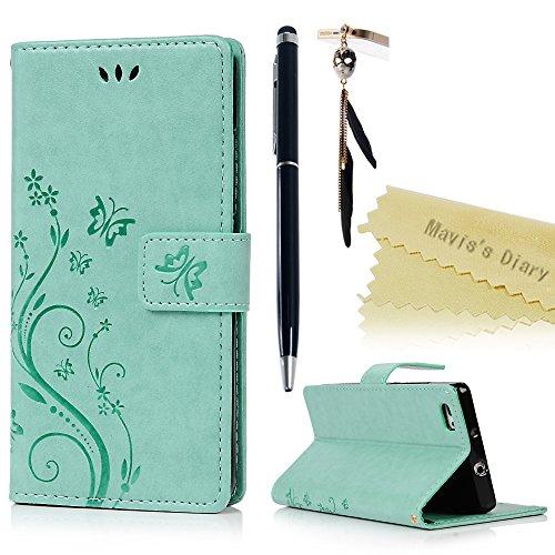 Mavis's Diary Huawei P8 mini,Cover Retro Farfalla Modello Stampata Design