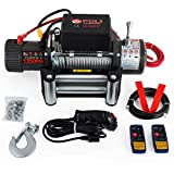 Mophorn 6120KG 12v Winch Recovery Electric Winch Rope with Remote Control for ATV UTV (6120KG Single Line)