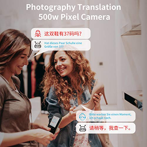 Language Translator Device Offline Translator Device Two Way Instant Voice Translator Audio Memo Recording Translation Support 106 Languages Travelling Learning Shopping Business Chat Shopping Black Photo #5