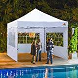 ABCCANOPY Outdoor Winter Gazebo 10x10 Oversized Weather Pod Party Tent,Premium Greenhouse Instant Pop Up Camping Tent with Elegant Church Window,Snow and Rain Protection,Bonus Wheeled Bag,White