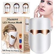 Antiacne Mascara, LED Mascarilla, Mascara Fototerapia, 3 Color Máscara de Terapia Ligera Contra el Acne, Reduce el Acné, las Manchas y las Arrugas, Rejuvenecimiento de la Piel