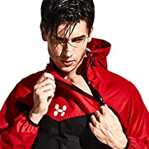 HOTSUIT Sauna Suit Men Weight Loss Jacket Pant Gym Workout Sweat Suits, Red, XL