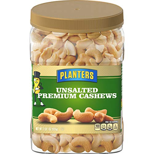 Planters Unsalted Premium Cashews (33 oz Jar)