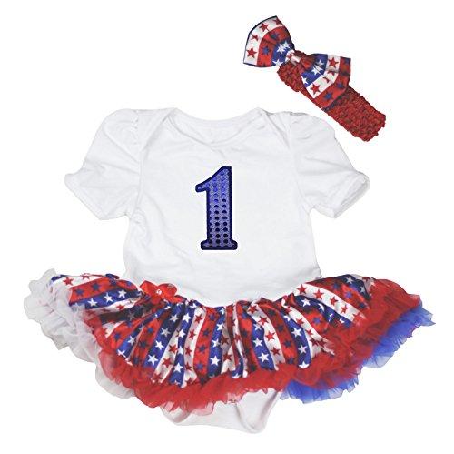 Petitebelle - Robe - Bébé (fille) 0 à 24 mois blanc White Red Blue - blanc - XL