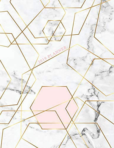 2019 Planner: Marble Gold Weekly Planner 2019 | Weekly Views with To-Do Lists, Funny Holidays & Inspirational Quotes | 2019 Organizer with Vision ... Planner, Organizer, Agenda and Calendar)