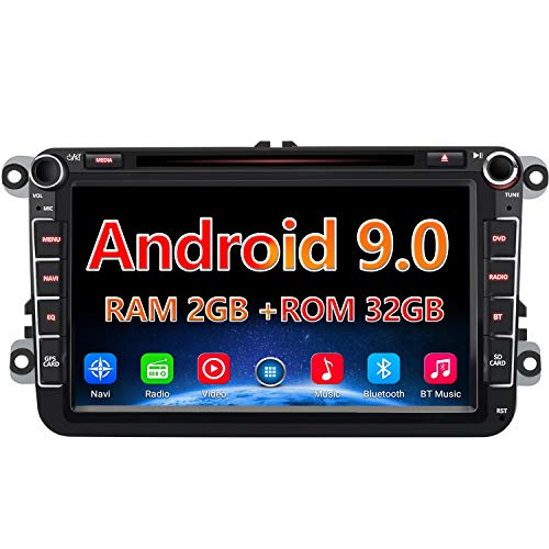 AWESAFE Android 9.0 8 Pulgadas Radio Coche con Pantalla 2 DIN para...