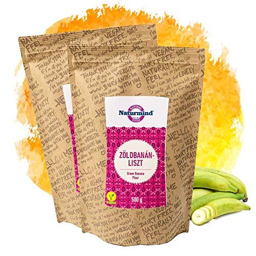 Naturmind Green Banana (Plantain) Flour / Grüne Bananenmehl / Kochbananenmehl 2erPack(2x500g) / Glutenfrei / Paleo-Vegan Produkte