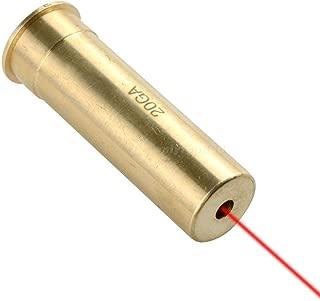 GOTICAL Red Dot 20 Gauge Laser Bore Sighter Boresight Hunting Tool 20 Gauge Cartridge Bore Sight Red Laser boresighter
