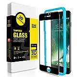 SmartDevil Protector Pantalla de iPhone SE 2020/8/7,Cristal Templado iPhone SE 2020/8/7,Vidrio Templado [Fácil de Instalar] [3D Borde Redondo] para iPhone SE 2020/8/7