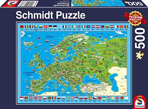 Schmidt Spiele Puzzle 58373 Europa entdecken, 500 Teile Puzzle, bunt