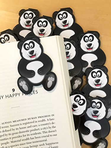 Panda Bulk Bookmarks for Kids Girls Boys - Set of 10 - Perfect for School Student Incentives Birthday Party Supplies Reading Incentives Party Favor Prizes Classroom Reading Awards!