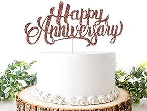 Helewilk Rose Gold Glitter Happy Anniversary Cake Topper, We Still Do, Wedding Cake Decoration, Company Anniversary/Birthday Party Supplies