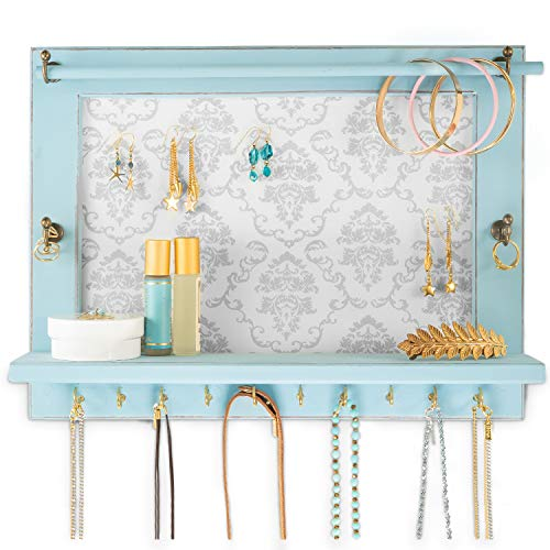 Distressed pale blue Jewelry Org...