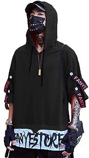 [swave]Tシャツ メンズ フード 付き 綿 トップス 原宿風 個性 Hip Hop 夏服 おしゃれ カジュアル 半袖 大きいサイズ