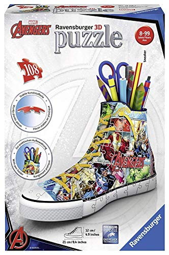 Ravensburger Marvel Comic Book Sneaker 108pc 3D Jigsaw Puzzle