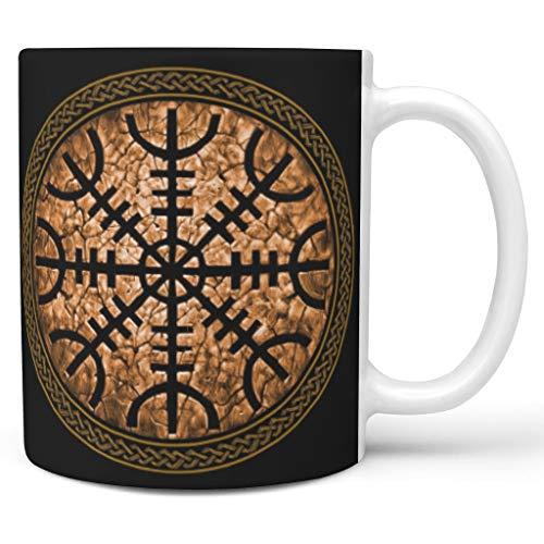 OwlOwlfan Viking - Taza de café personalizada, con asa para café, bar, cumpleaños, festival, regalo para niños y niñas, color blanco de 11 onzas