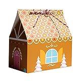 Lot de 24 sacs cadeaux de Noël en papier kraft, sacs en papier, sacs de chocolat, bonbons, sachets de Noël, boîte cadeau pour calendrier de l'Avent