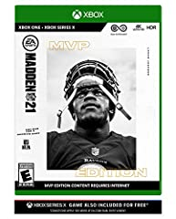"TWO MADDEN GAMES FOR THE PRICE OF ONE Get MADDEN NFL 21 for both current and next generation game systems Up to $69.99 in value for free Based on MSRP. Conditions apply. See ""From the Manufacturer"" section below"